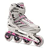 Roces Izi Womens Inline Skates 2015 - 6.5/White-Blue-Pink by Roces