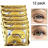 Gold Eye Treatment Mask Power Crystal Gel Collagen Eye Pads(12 Pairs) for Women
