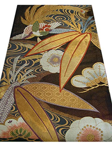 逆に表向き魅了する博多着物市場 きものしらゆり 振袖用 西陣織 袋帯 六通柄 リバーシブル 正絹 仕立上り