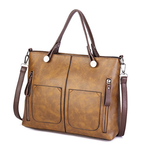 Top Women Grey JOSEKO Dating Satchel Soft Large Brown Bags Handbags Crossbody Tote Leather Bags Capacity Retro Handle Solid wrIRaw