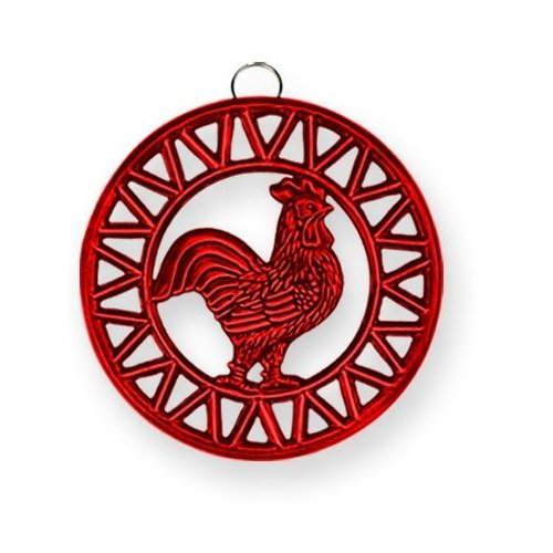 Old Dutch Two Tone Red Rooster Trivet, 8-Inch by Old Dutch
