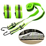 #1: Kayme Gust Straps Car Cover Wind Protector, 3 Pcs Elastic Rope Wind Kit For Car Suv Jeep Hatchback. Universal Fit