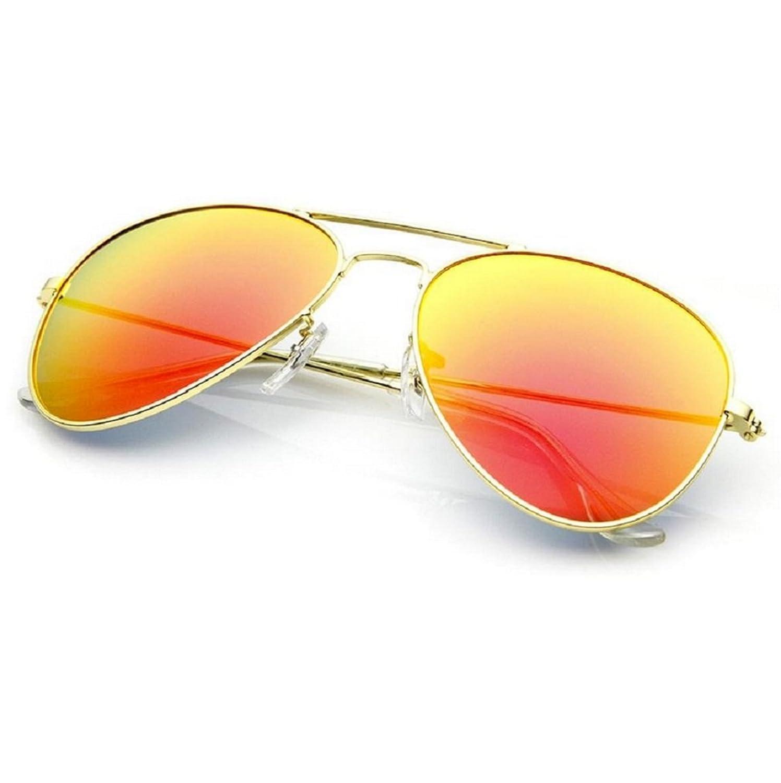 NEW UNISEX (MENS WOMENS) Aviator Orange Sonnenbrille Vintage Retro Brille SUNGLASSES Shades UV400 Protection Morefaz(TM)