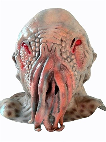 OM(TM) Halloween Creepy Ood Octopus Head Mask Doctor Who Wode Star Horror Masks (Halloween Costumes Dr Who)