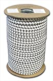 T.W. Evans Cordage SC-308-300 .375 in. x 300 ft. Elastic Bungee Shock Cord in White and Black