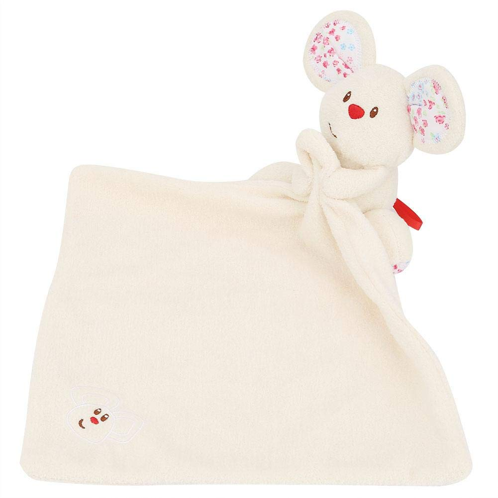 Beige Baby Comforter Toy,Towel Soft Cute Mouse Toy Infant Towels Best Gift for Newborn