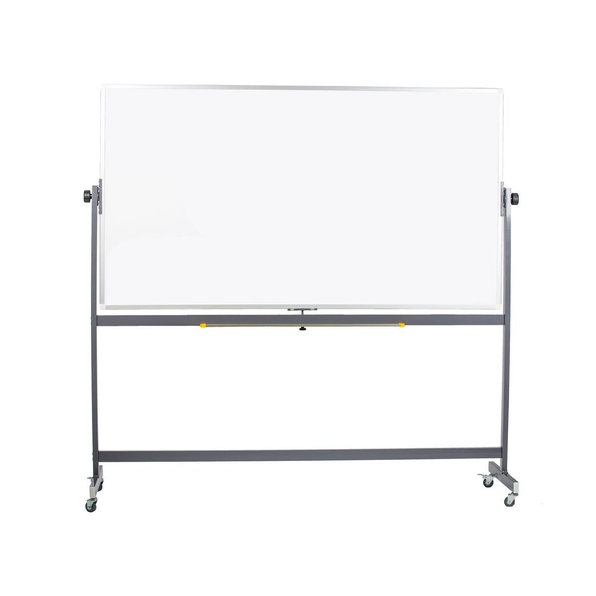 Pearington WB-AP001 Mobile Reversible Magnetic White Dry Erase Board with Aluminum Frame, 72'' W x 40'' H