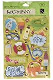Darice KC30-569584x180 Dimensional Stickers, Citronella, Water Fun Pool, 18'' Height, 18'' Width, 18'' Length (Pack of 180)