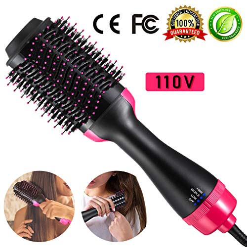 Tool Iron Brush (Hair Dryer Brush Hair Volumizer One Step 4-in-1 Hot Air Brush Hair Curler Hair Straightener Curling Iron Hair Brush Blow Dryer Ionic Salon Hair Tools for All Hairstyle)