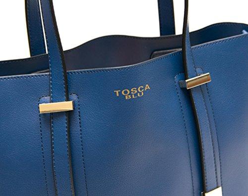 Tosca Blu Borsa Donna Charlotte Shopping Media con Borsa Interna Blu