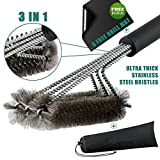 Aikitco 3 in 1 BBQ Grill Brush with Extra Thick Grill Mat - 18