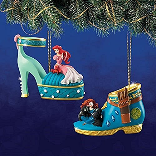 The Bradford Exchange Disney Once Upon a Slipper Ornament Set #13 Ariel and (Bradford Collectible Ornaments)