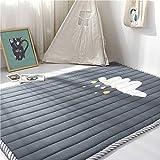 Cusphorn Grey Kids Teepee Mat Children Antiskid Play Mat Baby Crawling Mat Non-slip thicken Carpet