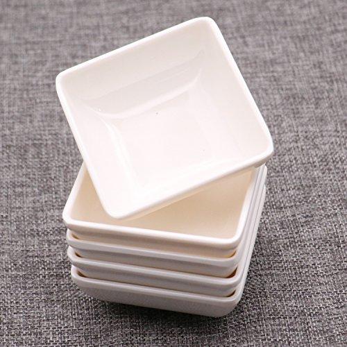 5 pcs Melamine Plastic White Dip Bowls Soy Sauce Dish