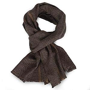 "Wool Scarf Men,Muffler Warm Winter Soft Long Striped Thick Fashion 67""×16"" Valentine Gift"