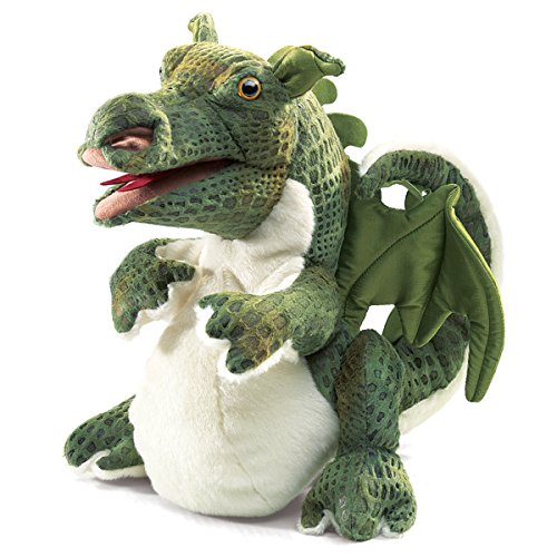 Folkmanis Baby Dragon Hand Puppet (Dragon Headed Three Puppet)