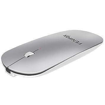 Ratón Bluetooth,Fenifox Mouse Bluetooth Portátil Ratón inalámbrico Mini Ultrafina Recargable Sin Receptor Para computadora,Computadoras Portátiles, ...
