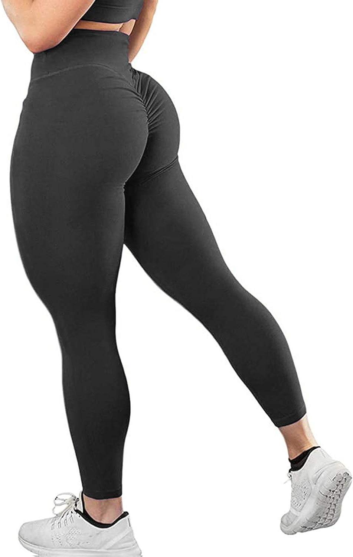 Women Push Up Leggings Butt Lift Yoga Pants Exercise Gym Sports Workout Trousers
