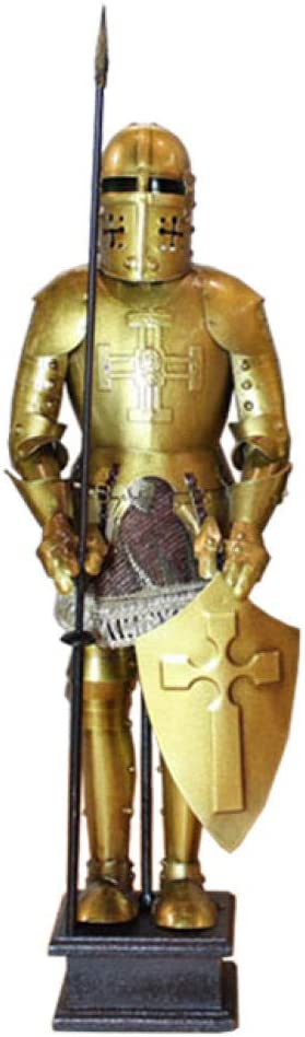 Xiangyun Armadura Samurai Medieval Hierro Retro Estilo Europeo Caballero Romano Modelo Restaurante Decoración de Escritorio Decoración-1