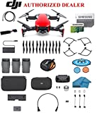 DJI Mavic Air Fly More Combo Drone - Quadcopter with 32gb SD Card - 4K Professional Camera Gimbal – 3 Battery Bundle - Kit - with Must Have Accessories (Flaming Red)