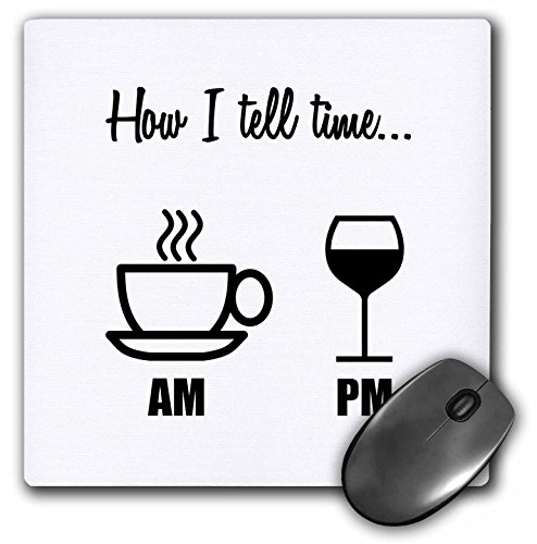 TELL TIME COFFEE WINE GLASS