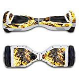 SKINOWN Self Balance Two Wheel Balance Board Hover Scooter Sticker Protective Skin Wrap Adhesive Vinyl Decal Cover Golden Water