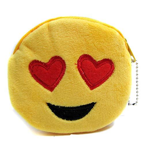 Style New Lovely Women Mini Emoji Coin Purse Case Plush Bag Wallet Handbag Gift (Color - -