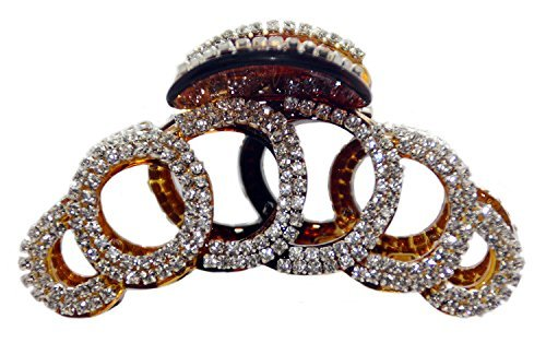 JCPeniel Elegant Style Large Fancy Good Quality Rhinestones Claw Clip Jaw Clips For Thick Hair (Clip Claw Jewelry)