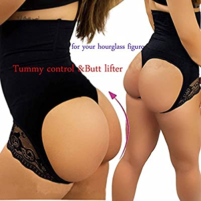 Hourglass Figure Butt Lifter Shaper Panties Tummy Control High Waisted BoyShort