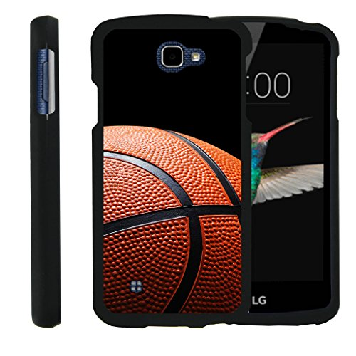 LG K4 Case | LG Optimus Zone 3 Case | LG Spree | LG Rebel [Slim Duo] Compact Fit Hard Snap On Case Slim Cover on Black Sports and Games by TurtleArmor - Basketball Seams - Basketball Case Pack