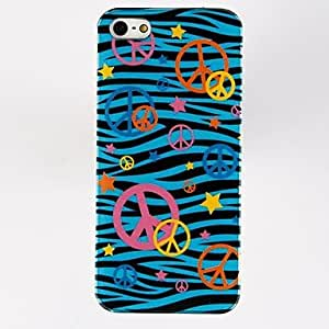GHK - Peace Sign Pattern TPU Soft Case for iPhone 5/5S , Multicolor