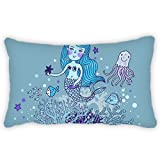 Toddler Pillowcase Cartoon Mermaid Undersea 13x18 Inches Comfortable Fabric Soft and Best quantity Hypoallergenic for Kids