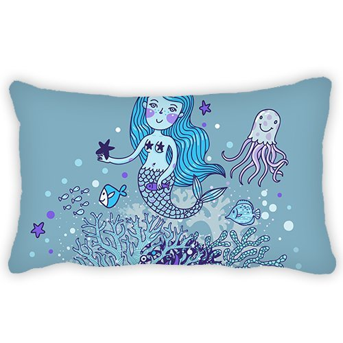 Toddler Pillowcase Cartoon Mermaid Undersea 13x18 Inches Comfortable Fabric Soft and Best quantity Hypoallergenic for Kids by ElijahToby
