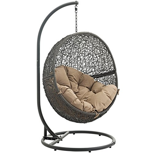Cheap  Modern Contemporary Urban Design Outdoor Patio Balcony Swing Chair, Brown, Rattan