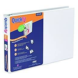 QuickFit 1 Inch Spreadsheet View Binder  8.5\