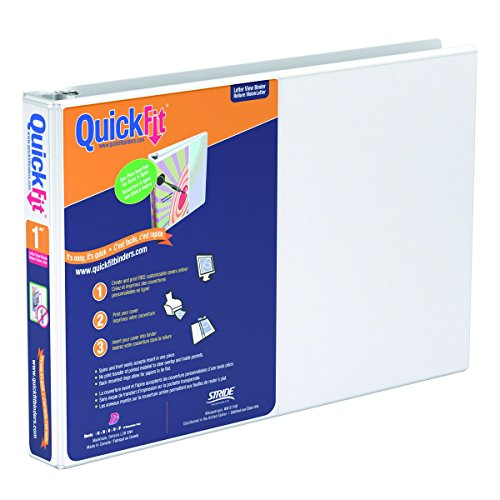 Recycled View Binder Letter (QuickFit 1 Inch Spreadsheet View Binder  8.5