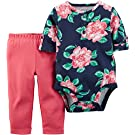 Carter's Baby Girls' 2 Pc Bodysuit & Pant Set, 3 Months, Floral