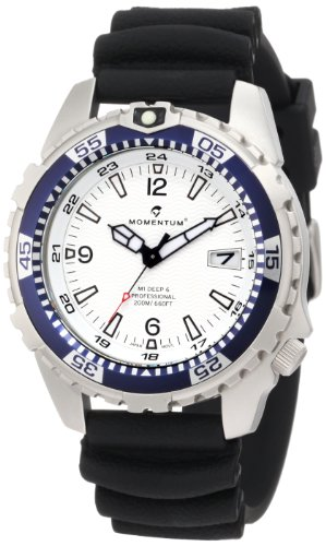 Momentum Men's 1M-DV06W1B M1 Deep 6 Blue Bezel Polyurethane Dive Watch - M1 Mens Dive Watch