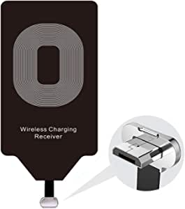 Wireless Charging Adapter Qi Charger Receiver Compatible LG G4 Stylo 2 3 V10 K7 Q6 Plus Samsung Galaxy S4 S3 J7 Pro A5 A3 Note 4 Moto G6 Play G5 G5S E4 Huawei Micro USB Module Card Android Charge