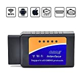 Car WIFI OBD 2, Wsiiroon Wireless OBD2 Car Code Reader Scan Tool ,Scanner Adapter Check Engine Diagnostic Tool for iOS Apple iPhone iPad Air Mini iPod Touch & Andorid