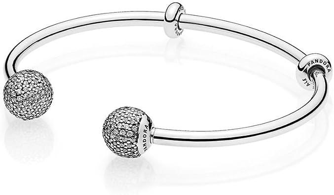 PANDORA Open Bangle Bracelet, Clear CZ 596438CZ