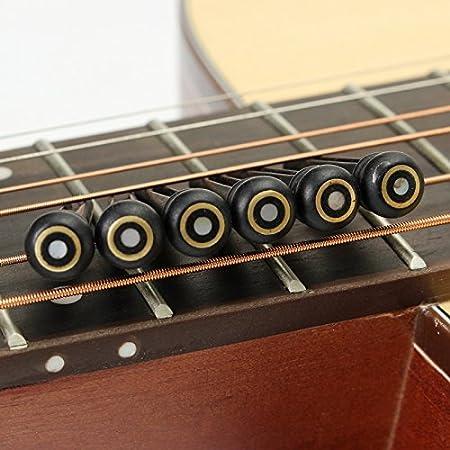 6 pines de ébano de Kenthia para puente de guitarra acústica ...