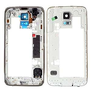 BisLinks plateado chasis trasera diseño de marco bisel para reparación IIIII Samsung Galaxy S5 i9600