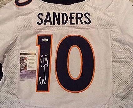 sports shoes a30cf de184 Emmanuel Sanders Autographed Signed White Broncos Jersey ...
