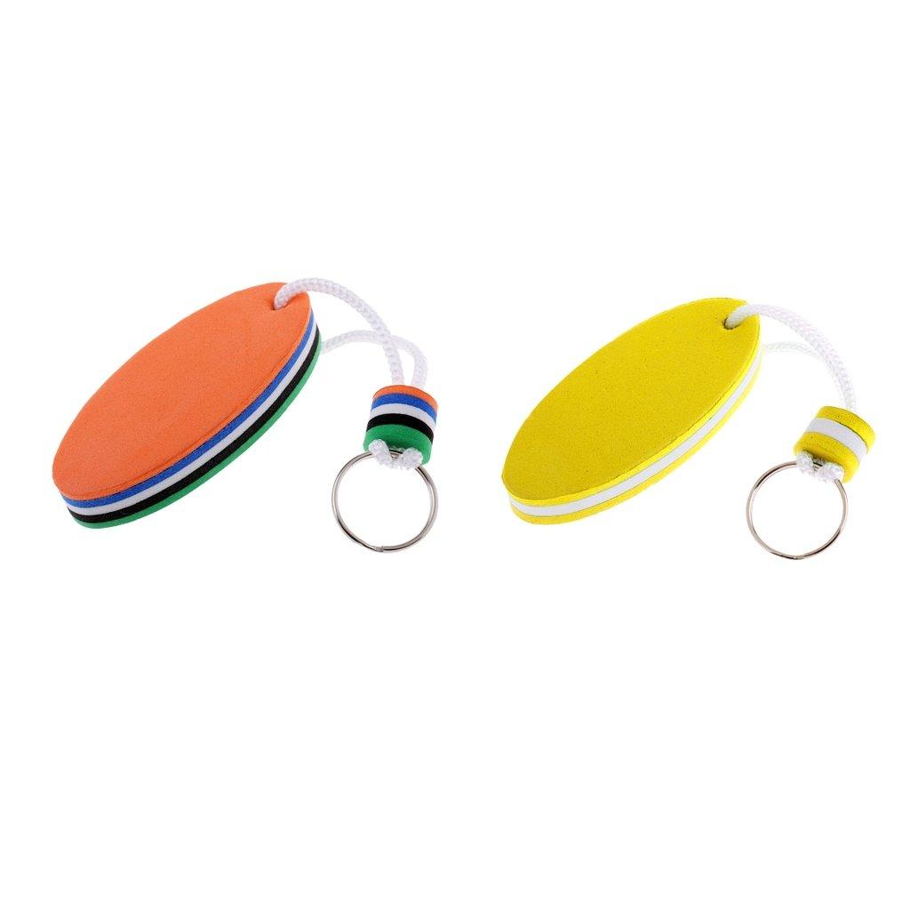 2pcs Floating Oval Keyring Beads Boat Keychain Key Chain 80 x 35mm