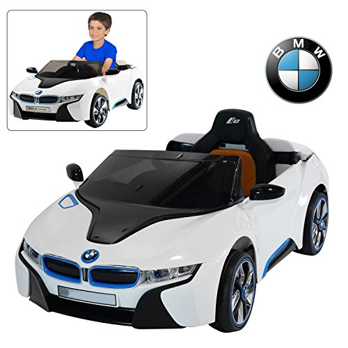 Modern-Depo Official Licensed BMW i8 Kids Ride On Car 12V Battery Baby Car Toy (White)
