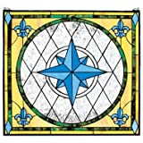 160 Hand-cut Rose Stained Glass Window