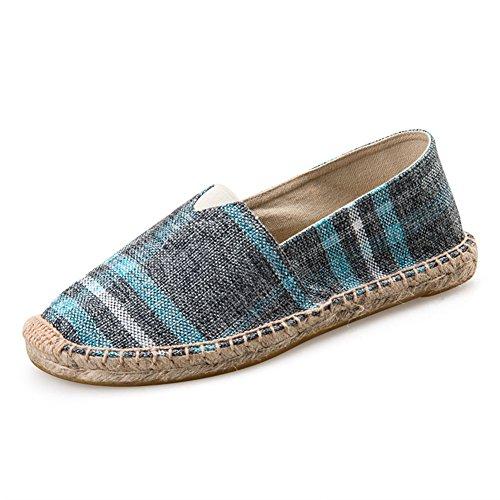 Highdas Unisex-Erwachsene Espadrilles Prints Flats Leinwand Schuhe Stoffschuhe Freizeitschuhe Damen/Herren 12#