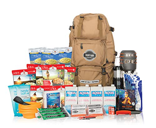 Sustain Supply Co.-9-08420 Premium Family Emergency Survival Bag/Kit – Be Equipped with 72 Hours of Disaster Preparedness Supplies for 4 People