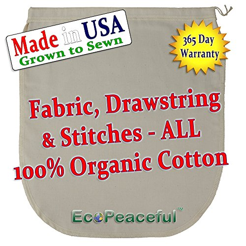 USA-Organic-Cotton-Nut-Milk-Bag-Read-our-Fake-Organic-Warning-Truly-100-Organic-Cotton-Sewn-w-100-Organic-Cotton-Threads